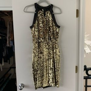 Tahari Sequin Cocktail Dress